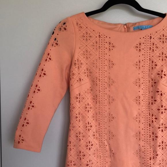 ANTONIO MELANI Dresses & Skirts - Antonio Melani 3/4 Length Sleeve Dress - Peach
